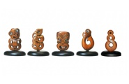 Maori Iconic Small Wood Carvings