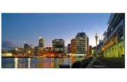 auckland city canvas photo print