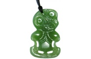 Tiki Pendant - Light Greenstone