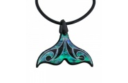 whale tail paua shell necklace