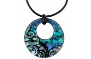 creole wave paua necklace shop new zealand