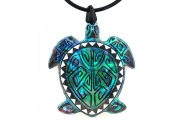 turtle koru paua necklace