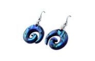 koru paua earring from shop new zealand