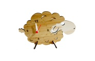sheep standing clock
