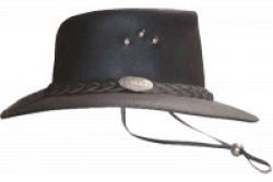Distressed Leather Hat