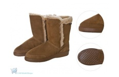 Flyer Herringbone Sole Sheepskin Boots