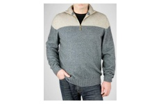 Men's Duo ¼ Zip Sweater- Possumdown