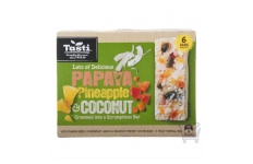 papaya pineapple coconut muesli bar