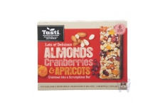 almonds cranberries and apricots muesli bar